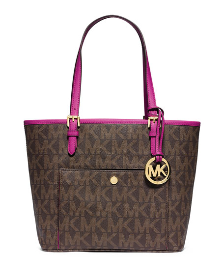 e3966f9251dc MICHAEL Michael Kors Jet Set Medium Snap-Pocket Tote Bag