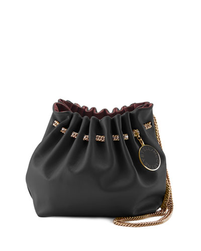 Noma Soft Shoulder Bucket Bag, Black