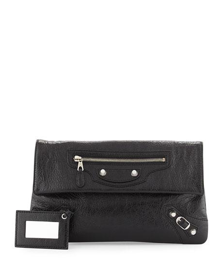 baad3b8e55 Balenciaga Giant 12 Lambskin Envelope Crossbody Bag, Black