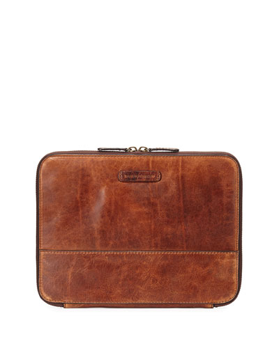 Logan Leather Tablet Organizer, Cognac