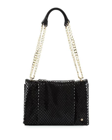 36404bb3a041 Halston Heritage Embossed Leather Shoulder Bag