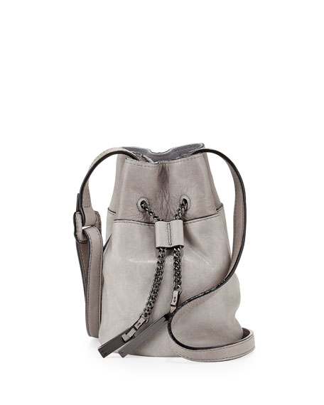 503ac37d766f Halston Heritage Drawstring Leather Bucket Bag