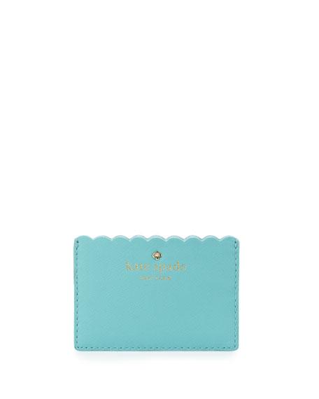 kate spade card holder green  cape drive card holder soft aqua/mint