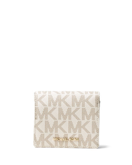 84c0506a3672 MICHAEL Michael Kors Jet Set Travel Logo Card Holder