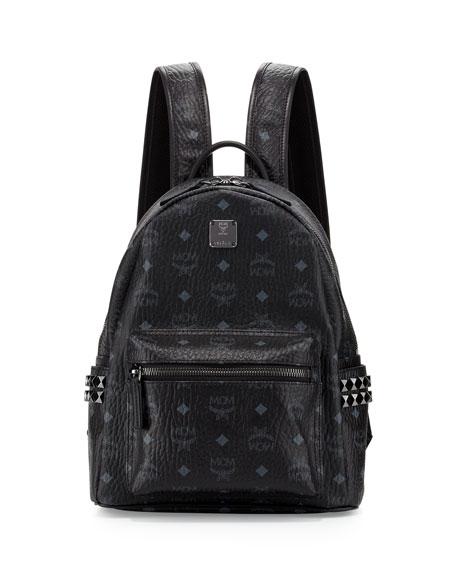 Stark Side Studs Small Backpack in Black Visetos MCM XCyOqM18ES