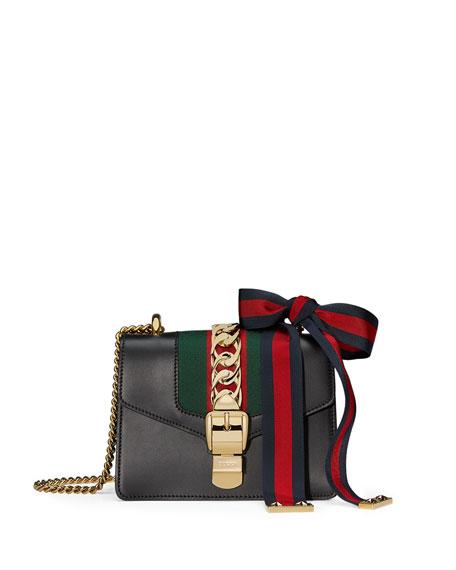 aa3d1f180b2 Gucci Sylvie Leather Mini Chain Shoulder Bag