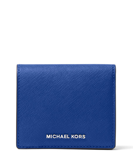 dc8bb2e42ae4 MICHAEL Michael Kors Jet Set Travel Carryall Saffiano Card Holder, Electric  Blue