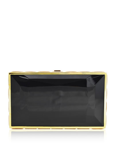 Speccio Faceted Box Clutch Bag, Champagne