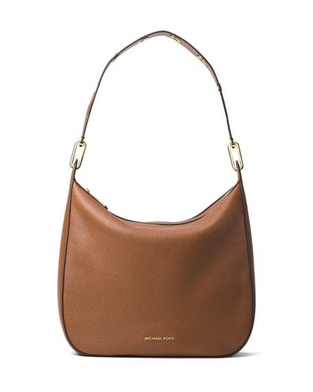d79863eed25b3 MICHAEL Michael Kors Raven Large Leather Shoulder Bag