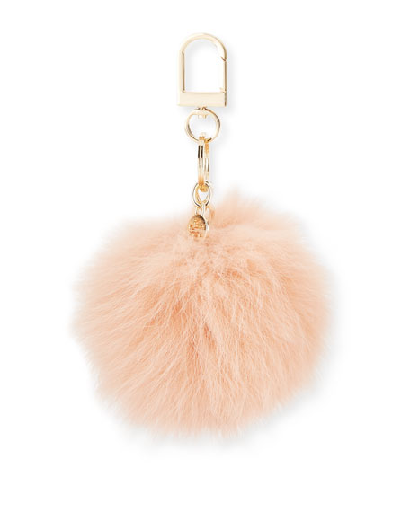 Tory Burch Fur Pompom Key Fob 1424dc56ea87