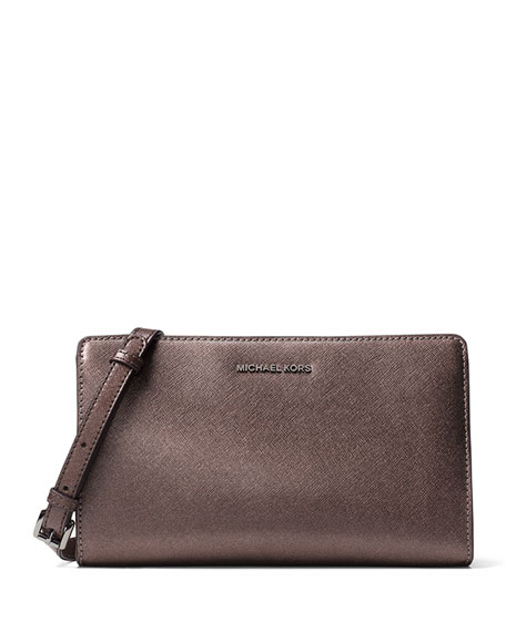 d5aac9cb8977b6 MICHAEL Michael Kors Jet Set Travel Large Crossbody Clutch Bag, Cinder