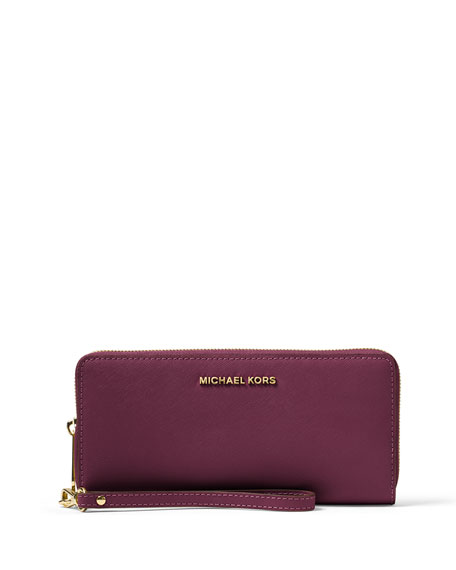 47b28b1976d70c MICHAEL Michael Kors Jet Set Travel Continental Wallet, Plum