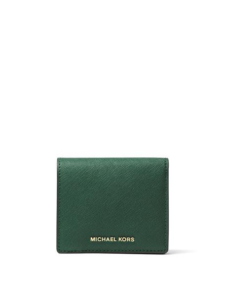 78f922c813c2 MICHAEL Michael Kors Jet Set Travel Saffiano Carryall Card Case, Moss