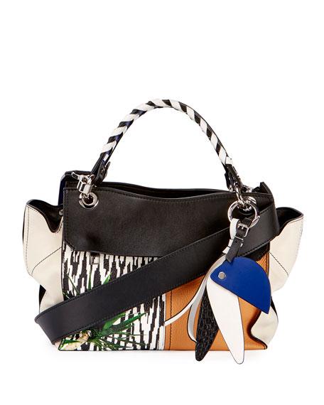 Printed Curl Handbag - Black Proenza Schouler Buy Cheap Wholesale Price Largest Supplier Manchester Discount Largest Supplier H8Fpwr