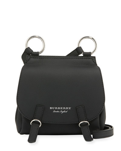 Bridle Small Soft Leather Crossbody Bag, Black