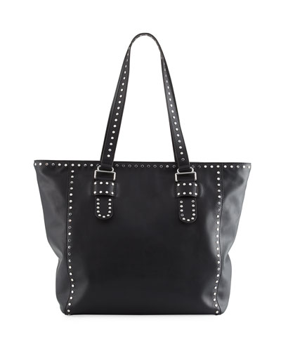 Midnighter Leather Stud Tote Bag