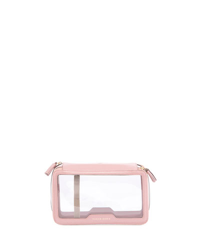 Inflight Plastic Zip Travel Toiletry Pouch, Blush