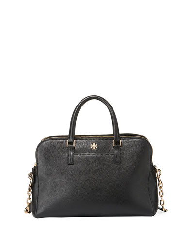 Georgia Pebbled Leather Satchel Bag