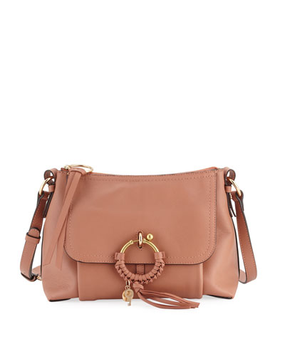 Ring Medium Coated Leather Shoulder Bag