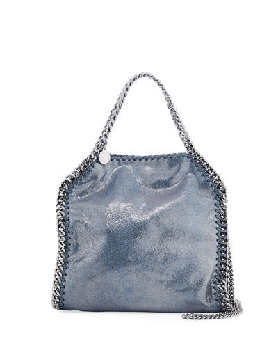Falabella Mini Metallic Shaggy Deer Tote Bag