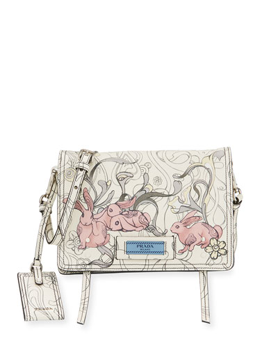 9316f0a65e8102 Prada Etiquette Printed Leather Bag Price   Stanford Center for ...