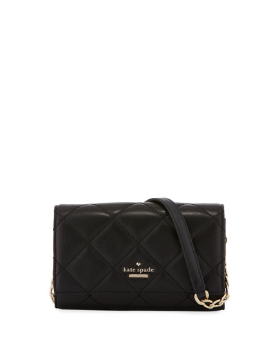 agnes quilted leather crossbody wallet