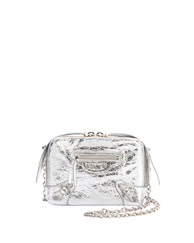 Classic Reporter XS Chain Lamb Leather Crossbody Bag