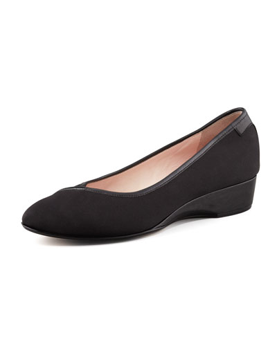 Felicity Stretch Fabric Low-Wedge Shoe