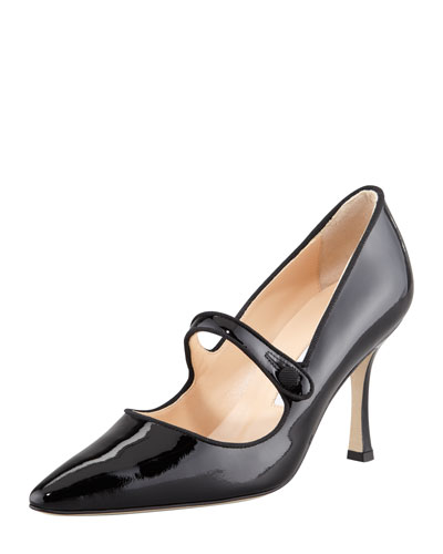 Campari Patent Leather Mary Jane, Black