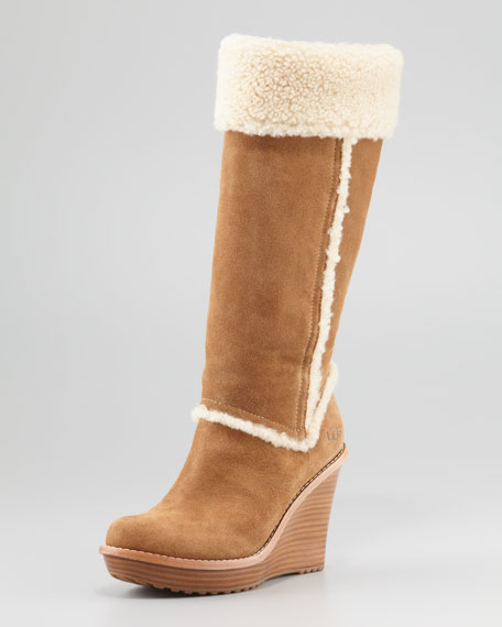 ugg suede wedge boots