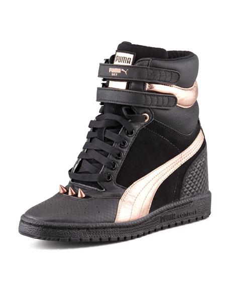 52dc703ef62 Puma McQueen Sky Hidden-Wedge Studded Sneaker