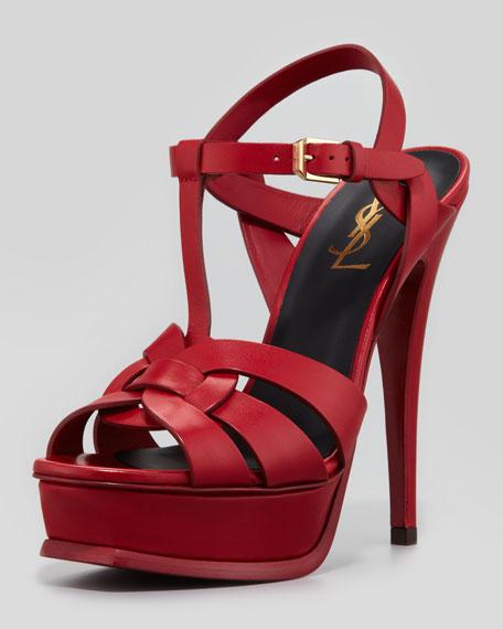 8bed4273630f2 Saint Laurent Tribute High-Heel Leather Sandal