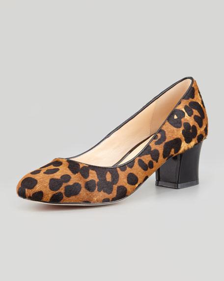 4f35ff5cba6a Cole Haan Chelsea Leopard-Print Calf Hair Low-Heel Pump