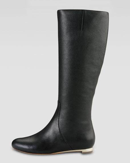 ccf9a85370e Astoria Air Tall Flat Leather Boot Black/Gold