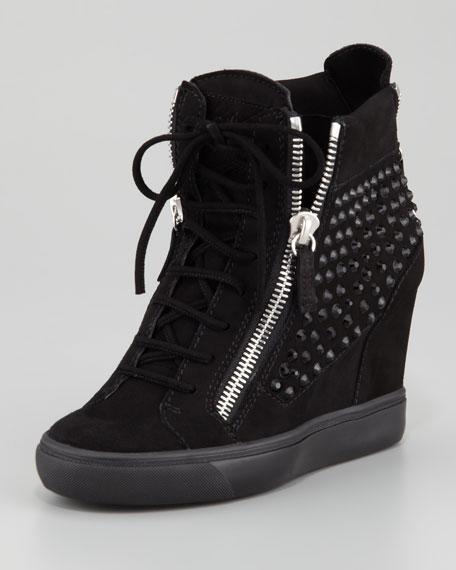 650b40a6efb Giuseppe Zanotti Rhinestone Wedge Sneaker