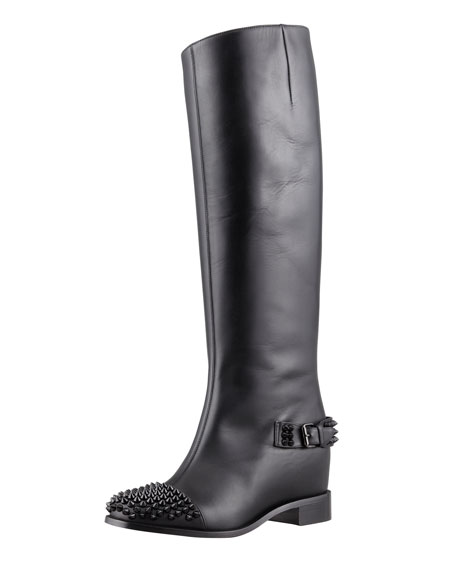 1aac752558a Egotina Spike Red-Sole Boot Black