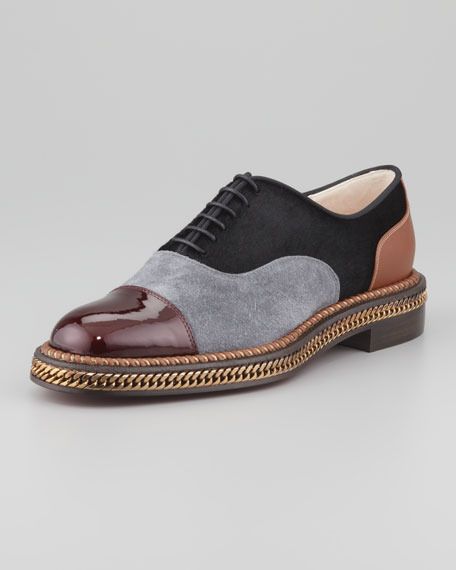 buy cheap high quality cheap newest Christian Louboutin Latcho Mixed-Media Oxfords free shipping cheap real sale online shop MUNvdqGhg