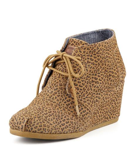 7099c0c0425e TOMS Cheetah-Print Wedge Desert Boot