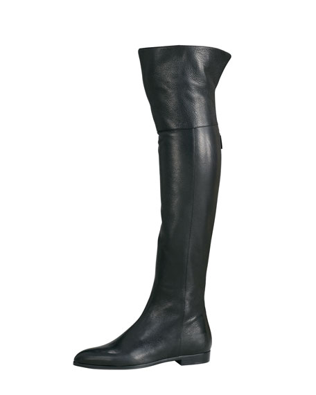 best prices stable quality super quality Cervo Shine Flat Over-The-Knee Boot Black