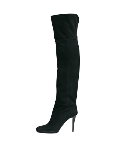 Gypsy Fitted Over-The-Knee Boot, Black
