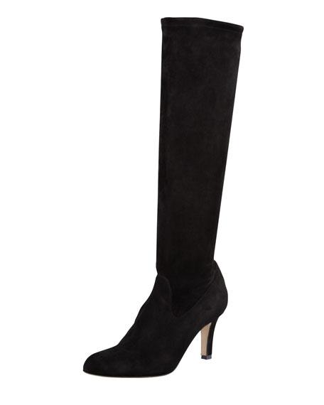 Manolo Blahnik Round-Toe Knee-High Boots footlocker online wide range of for sale SEkBCVWvul