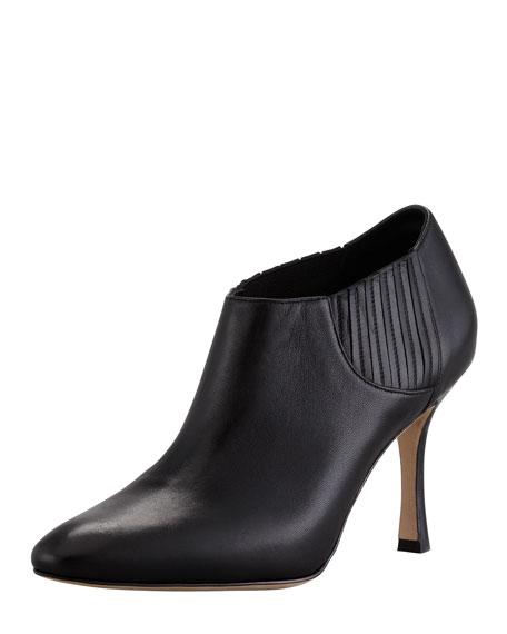 outlet sast buy cheap under $60 Manolo Blahnik Livrea Leather Ankle Booties manchester great sale for sale 100% original for sale 9qtsu9