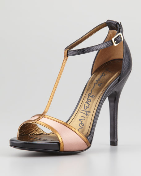 clearance huge surprise Lanvin Satin T-Strap Sandals low shipping fee for sale fast delivery cheap price 77YKole0