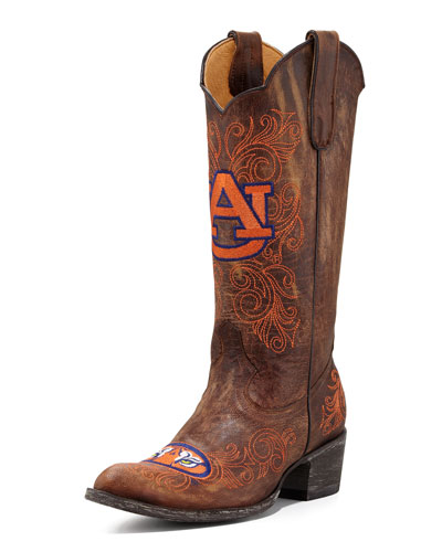 Auburn Tall Gameday Boots, Brass