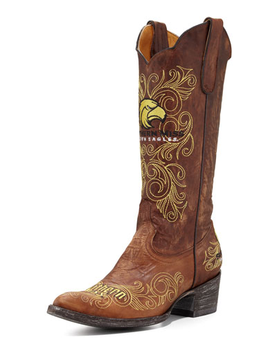 Southern Mississippi Tall Gameday Boots, Brass