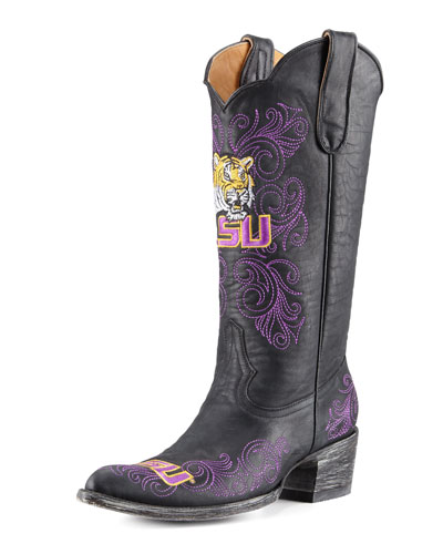 LSU Tall Gameday Boots, Black