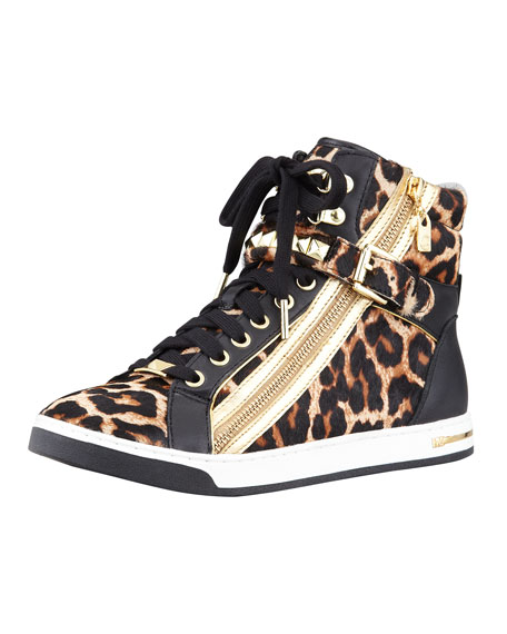 95b9a4d8dd57 MICHAEL Michael Kors Glam Leopard-Print Hi-Top