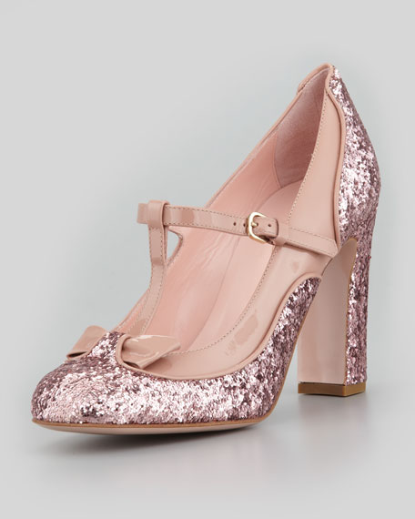 RED Valentino Glitter mary jane sandals uxNrKlS