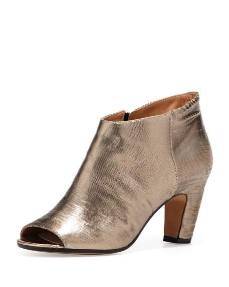 Maison Margiela Metallic Peep-Toe Ankle Boots free shipping Inexpensive 2014 new sale online IrqIHdzte