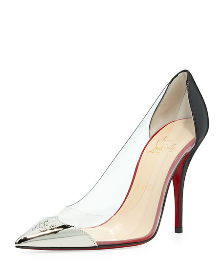 Christian Louboutin Djalouzi PVC Cap-Toe Red Sole Pump